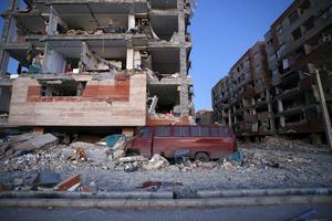Den kurdiska staden Sarpol-e Zahab drabbades hårt av jordbävningen.