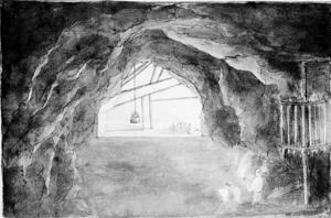 Nederst i Sala silvergruva på 1700-talet.