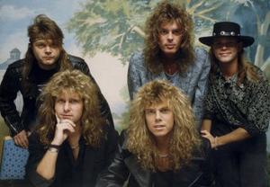Bildtext: Rockbandet Europe var heta på 80-talet. Foto: Kent Östlund/SCANPIX