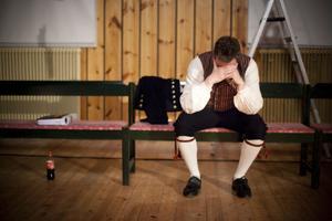 Hos Per Löfgren råder djupt lugn innan föreställningen börjar.
