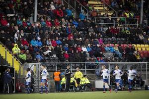 2531 fick se Varbergsbänken jubla efter 1–0-målet.