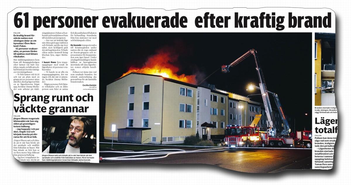 Polisen evakuerade familjens grannar
