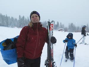 – Här i backarna är det fantastisk skidåkning, säger Emma Vestberg från Kalmar.