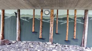 Tunneln i Stadsparken i Sollefteå, en av de tunnlar som utsmyckats som en del i kommunens projekt