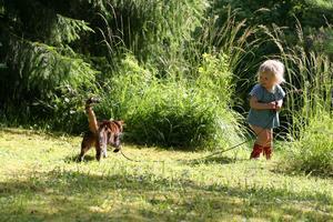 Innekatten Tootsie älskar att gå promenader med Inez. Lyckan är ömsesidig.