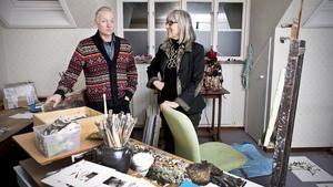 Avskedsföreställning. Konstnärerna Niklas Anderberg och Marja de Raadt ställer ut i Arboga innan de flyttar tillbaka till Holland.