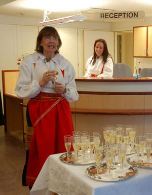 Lasarettschefen Karin Stikå Mjöberg är glad och stolt över att vara chef för Mora lasarett.