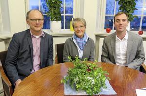 Pelle Persson (S), kommunstyrelsen i Östersund, Kristina Persson (S), minister i statsrådsberedningen, och Kalle Olsson (S), riksdagsledamot från Östersund.