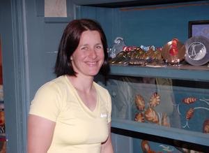 Uschi Disl har en imponerande samling av mästerskapsmedaljer.
