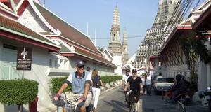Variera dina sätt att resa, cykla i Bangkok!