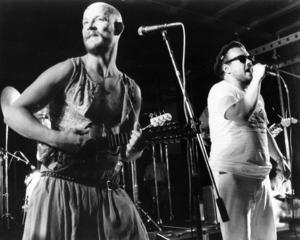 Arne Rubensson i Hardda ku, hardda geit på Storsjöryan 1986. Nu, 31 år senare, lägger bandet ner.