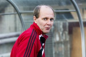 Peter Norberg, fotbollstränare för nykomlingarna Bik SK.