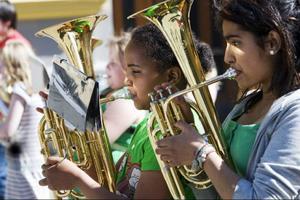 Maxtaxa i musik- och kulturskolan är ett av de rödgrönas vallöften. Foto: Heiko Junge/Scanpix
