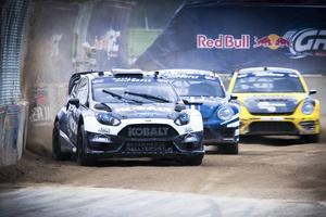 Rallycross-serien GRC har växt till femte största tv-sporten i USA och där är Patrik Sandell en av toppförarna.