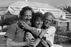 Werner Herzog, Claudia Cardinale och Klaus Kinski vid filmfestivalen i Cannes 1982.