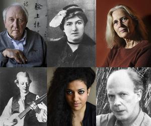 Tomas Tranströmer, Edith Södergran, Katarina Frostenson, Cal Michael Bellman, Athena Farrokhzad och Gunnar Ekelöf är några av de poeter som medverkar i