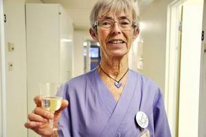Tandläkare Gunnel Hanson har arbetat på Folktandvården i Brunflo sedan 1976 och var med vid måndagens firande.