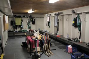 Damlaget i Skutskär har fått sitt eget omklädningsrum som byggts under sommaren.
