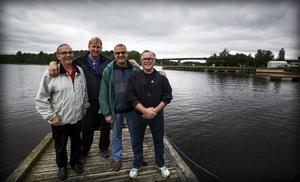Åke Edlund, Håkan Tjärnberg, Jörgen Sundeqvist och Bertil Sjölander ser fram mot musikfestivalen.