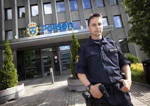 Oroad. Ralf Andersson, ordförande i polisförbundet i Västmanland. Foto: Tony Persson