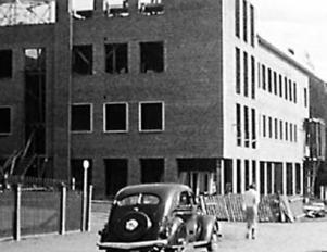 1936. Nya LT-huset på Rådhusgatan börjar ta form.