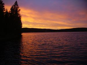 Solnedgång vid Västansjövallen.