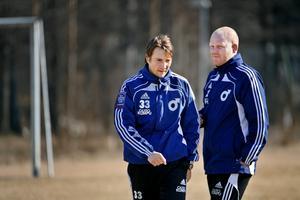 Dif-tränarna Jonas Lindskog och Patrik Werner.