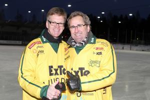 Sören Ericson (tidigare tränare i GIF Sundsvall) och Erik Hamrén iklädda Ljusdalströjor.