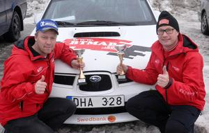 Jörgen Lindahl och Thomas Thunström leder South Swedish rally efter den första etappen. Tävlingen har sin bas i Karlskrona.