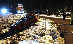HAGSTA. En personbil och en taxi krockade vid Hagsta.