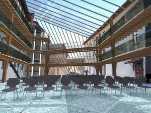 Sundsvall kommer sommaren 2015 att få en ny innergård och Grönborgsområdet kommer i framtiden också att husera studentkåren.