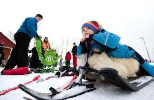 Saga Linder, 6 år, valde skidor före skridskor.