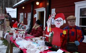 TOMTAR. Karl-Alfred Andersson sålde sina tomtar på julmarknaden.