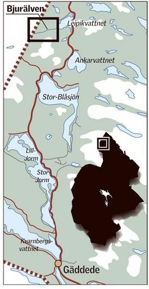 Bjurälvens naturreservat i nordvästligaste Jämtland.