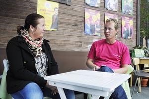 Zenita Strindlund Norberg från Extrem events träffade Miljöpartiets Jonas Eriksson.