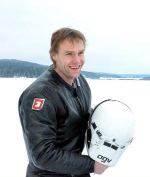 Peter Lundgren tyckte isracing var roligt, men läskigt.