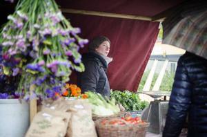 Jorun Olsson sålde kravgodkända grönsaker och tyckte marknaden var fantastiskt.
