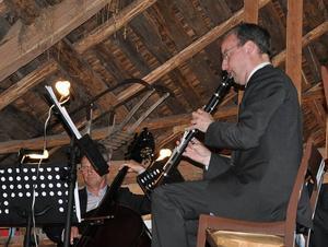 Tomas Gertonsson, kontrabas och Anders Emilsson, klarinett.