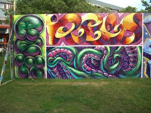 Svar på tal. När Stockholm bannlyser lagliga graffitiväggar sätter Gävle upp en ny.