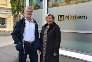 Christer Ersson, vd på Norra kajen exploatering, och Marie Selin, vd på Mitthem.