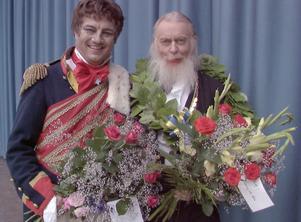 Hans Josefsson som Kung Salomo tackade Rolf Rågsveden när denne lämnade Himlaspelets styrelse efter 20 säsonger.