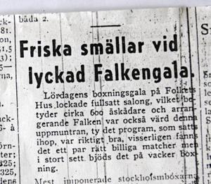 1948 var Lennart Söderhäll omnämnd igen när han åkte på stryk i boxning.