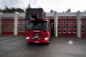 En larm om en brand i en byggnadsställning vid Lidl i Ludvika inkom klockan 21.18 på tisdagskvällen.