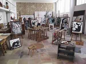Joan Mirós ateljé - Fundació Pilar i Joan Miró.