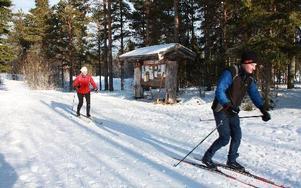 – Vi är från Stockholm och tränar inför Vasaloppet på söndag. Tolvåsspåret lockar åkare från hela mellansverige MATS RÖNNBLAD