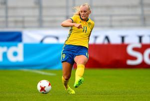 Sveriges Stina Blackstenius skapade mycket framåt under matchen mot Italien.