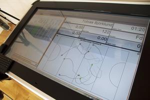Spelarnas rörelsemönster och siffror uppdateras i realtid under matcherna.