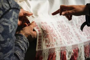 Även textilier är intressanta i projketet.
