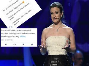 C-mores kommentator Lena Sundqvist, delade på onsdagen med sig av några meddelanden hon mottagit.