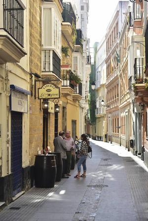 Den historiska delen av Cádiz har många anrika och historiska gränder.   Foto: Anders Pihl